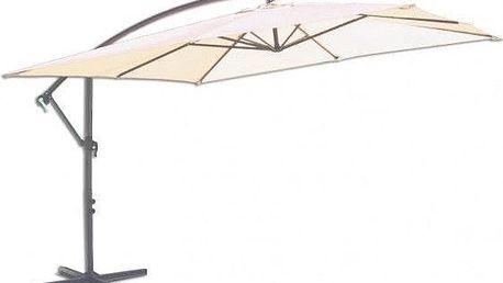 Čtvercový slunečník 8080 boční béžový 270 x 270 cm