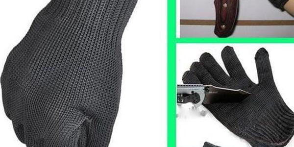 Kevlarové ochranné pracovní rukavice černé - dodání do 2 dnů