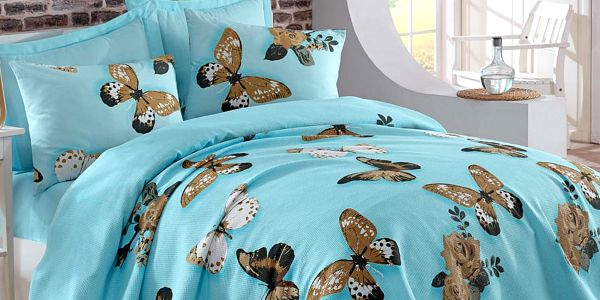 Lehký přehoz přes postel Kelebek, 200x235 cm