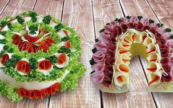 Parádní slaný dort – ozdoba každého večírku