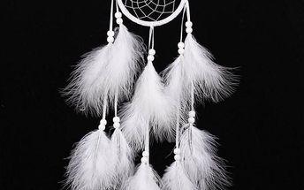 Indiánský lapač snů s bílými pery