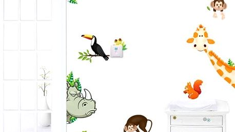 Dětská samolepka - zvířátka v přírodě