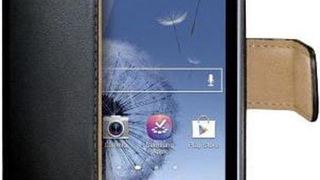 CELLY Wally pro Samsung Galaxy Trend, PU kůže, černá - WALLY361