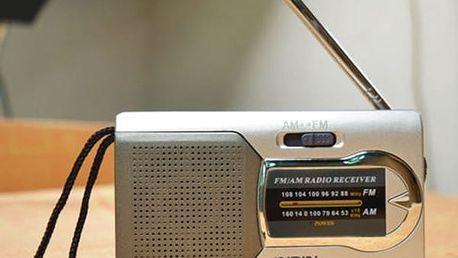 Mini přenosné rádio s teleskopickou anténou