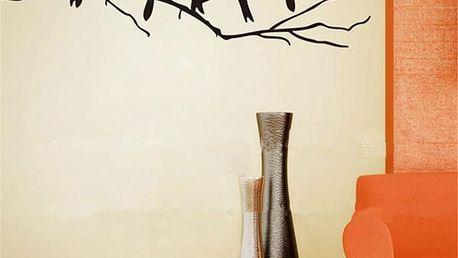 Samolepka na zeď - Ptáčci na větvičce