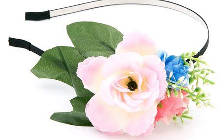 Fashion Icon Čelenka do vlasů květinová růže