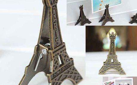 Retro stojánek na fotografii ve tvaru Eiffelovy věže - 5 kusů