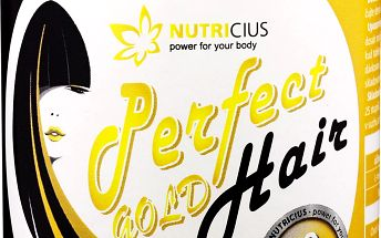 NUTRICIUS Perfect HAIR gold methion 500mg + biotin 100ug 90 tablet