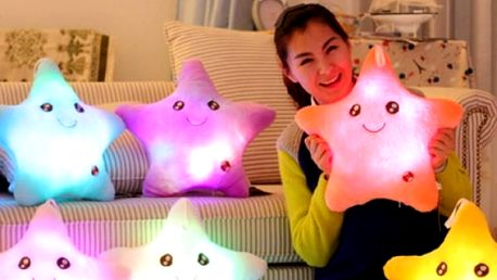 Plyšová LED hvězdička měnící barvy - dodání do 2 dnů