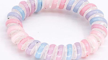 Fashion Icon Vlasová gumička plastová pružina duhová 1 ks