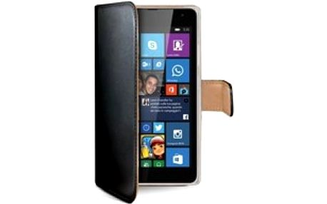 Celly Wally pouzdro PU kůže MS Lumia 535, Black