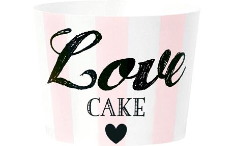 Papírové košíčky na muffiny Love Pink, 24 ks