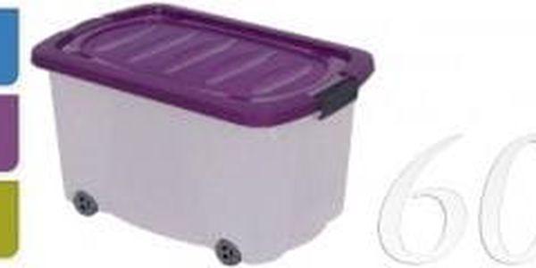 Úložný box pojízdný s klip víkem 60 l plastový 59x38x44, zelený ProGarden KO-Y54220120zele