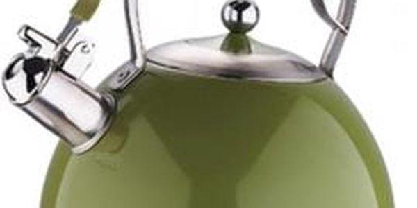 Konvice pískací nerez 2,6 l MILANO olivová BERGNER BG-3796oliv