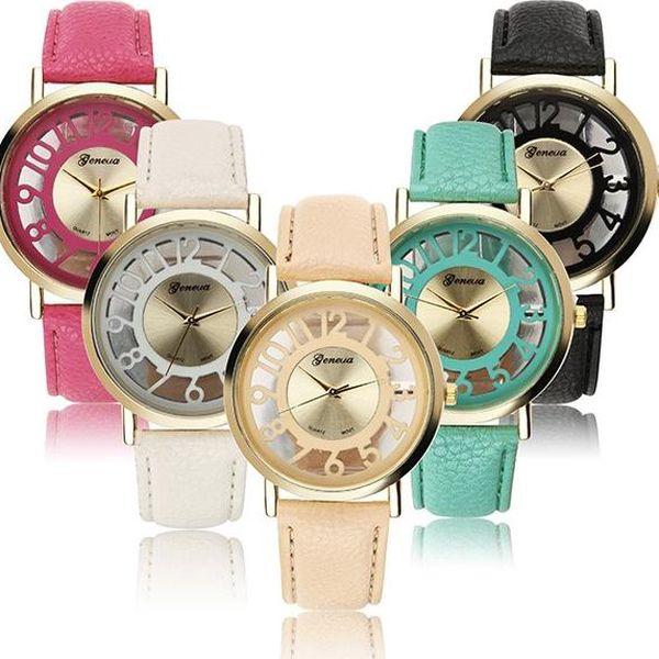 Analogové dámské hodinky s originálním ciferníkem