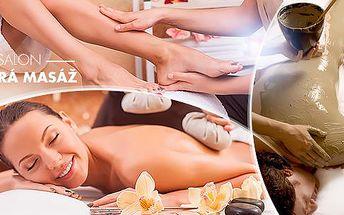 105mib. relaxační balíček pro 1 nebo 2 osoby: masáž zad, nohou a šíje, peeling, zábal