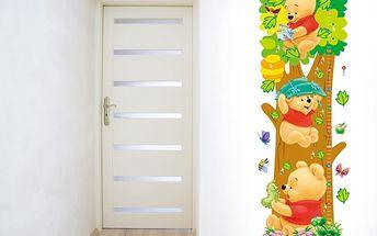 Nalepte.cz Metr medvídek Pú 25 x 70 cm
