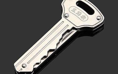 Skládací nožík ve tvaru klíče