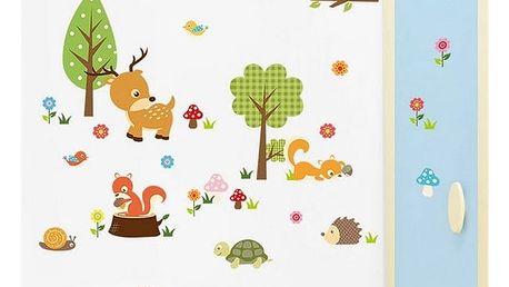 Samolepka na zeď - Zvířátka z lesa
