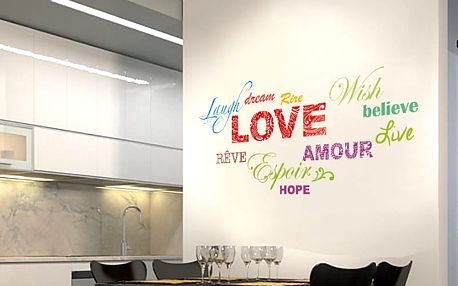 Nalepte.cz Nápis Love 70 x 32 cm