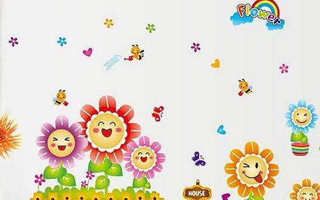 Veselé květinky 120 x 60 cm