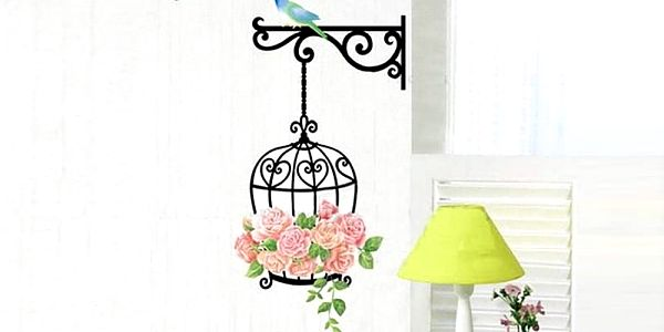 Nalepte.cz Klícka s růžemi 34 x 68 cm