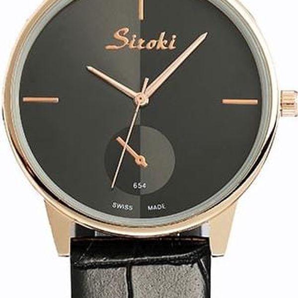 Elegantní unisex náramkové hodinky v několika barvách