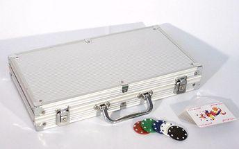 Poker set 300 ks žetonů s příslušenstvím