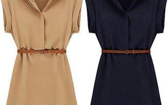 Letní košilové šaty - poštovné zdarma