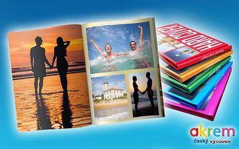 Fotosešit z vlastních fotografií o 40 stranách či fotokniha o 80–100 stranách
