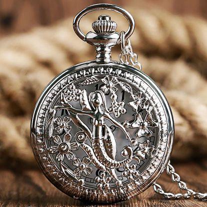 Kapesní hodinky s bohatým zdobením - dodání do 2 dnů