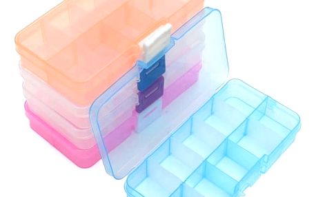 Plastový organizér na šroubky či šperky