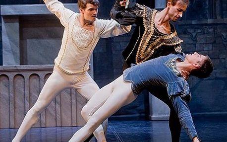 Vstupenka na Romeo a Julii - baletní představení v nádherných prostorách divadla Hybernia.