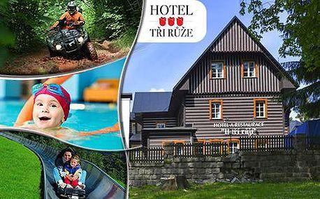 Pobyt pro 2 v Krkonoších s polopenzí, neomezenou saunou, jízdou na bobové dráze a vstupem do Vodního ráje
