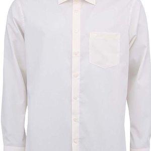 Krémová košile Seidensticker Kent Classic Patch 98 Regular Fit