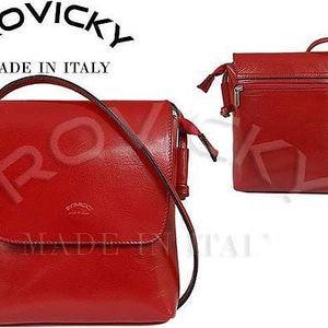 Dámská kabelka z pravé kůže TWR-3 Červená