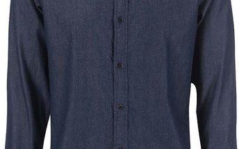 Tmavě modrá denim košile s černými puntíky Selected Oneromo