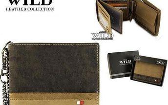 Pánská peněženka z pravé kůže N992ZC-R tmavá