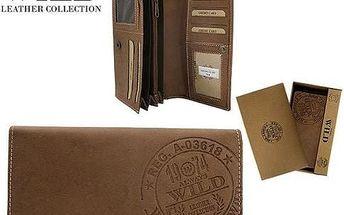 Dámská peněženka z pravé kůže ALWAYS WILD TAN