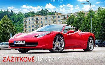 10minutová jízda v jednom ze 3 supersportů ve Zlíně nebo Kroměříži