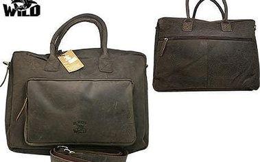 Pánská taška z pravé kůže C48.399 CBH Brown