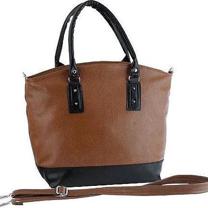 Dámská kabelka Elfrika hnědá + černá