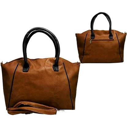 Dámská kabelka Paul Rossi hnědá + černá
