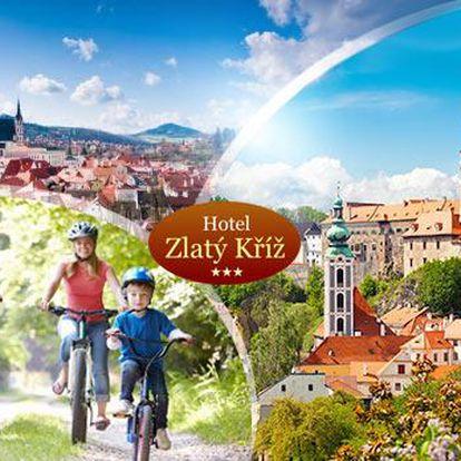 Rodinný pobyt u města Český Krumlov na 3-6 dní pro dva s polopenzí a vínem + dítě zdarma