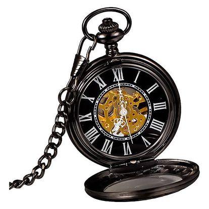 Mechanické kapesní hodinky s římskými čísly