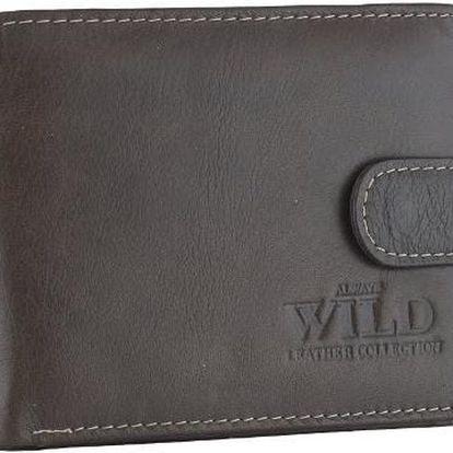 Pánská peněženka z pravé kůže 53542L-12 COFFEE