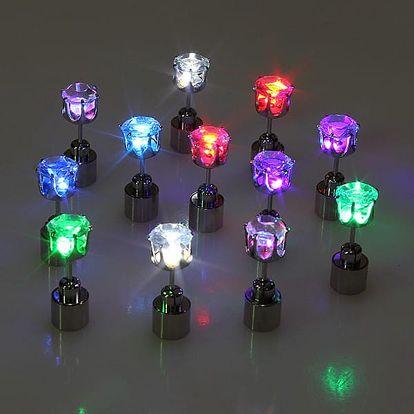 Svítící LED náušnice - více barev