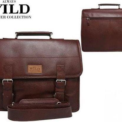 Pánská kožená aktovka NZ-T2(606) SH wild burgund