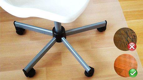 Ochranná podložka pod kancelářskou židli proti poškrábání podlahy