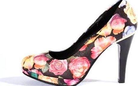 Dámské boty na podpatku Flower